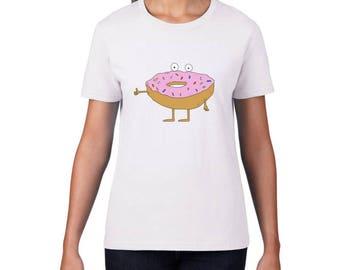 Donut Tshirt, Womens Tshirt, Funny Tshirt, Illustrated Tshirt