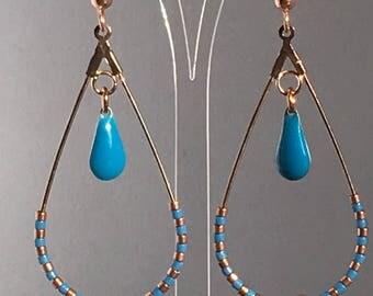 Drop earrings blue
