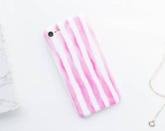 Pink Stripes iPhone Case iPhone 8 Case iPhone 8 Plus Case iPhone 7 Case iPhone 7 Plus Case iPhone 6s Case iPhone 6s Plus Case Pink iPhone Ca