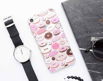 Donuts iPhone X Case iPhone 8 Case iPhone 8 Plus Case iPhone 7 Case iPhone 7 Plus Case iPhone 6s Case iPhone 6s Plus Case Food Sweet Cute