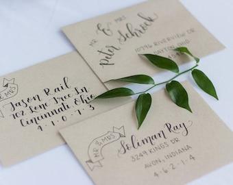 Wedding Calligraphy Envelopes, Calligraphy Envelope Addressing, Wedding Invitation Envelope, Wedding Envelope Addressing