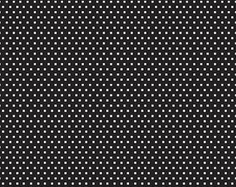 Shine Glitter Black In Knit by Simple Simon & Co for Riley Blake cotton spandex lycra, diamond, jersey 4way stretch K6666R-BLAC white