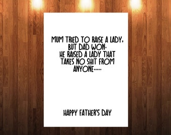 Funny Rude Fathers Day Card