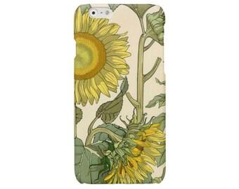 Flower iPhone 6 Plus case iPhone 7 case sunflower iPhone 6 case floral iPhone SE 5 5s cover vintage iPhone 4 4s case Samsung Galaxy S7case