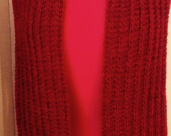 RED HEATHER SCARF