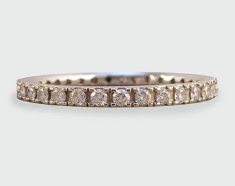 Diamond Eternity Ring set in 18ct White Gold RG199