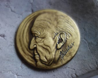 Commemorative medal at 1995-with a portrait of Adenauer and Kohl