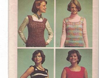 Vintage Crochet Fashions Simplicity Pattern one size 6065.  Uncut.