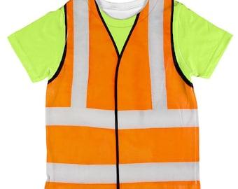 Construction vest out of shirt for toddler surf vest tops