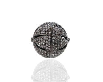 SDC1864 BEAD Pave Diamond Charm