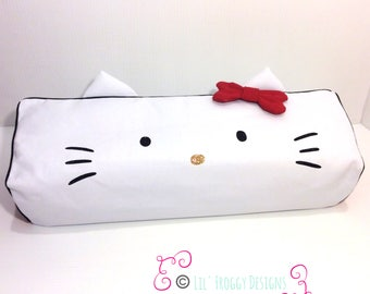 New! Cricut Maker and Cricut Explore/ Air/ Air 2/ One Custom Handmade Dust Cover White and Red H Kitty with Black Piping