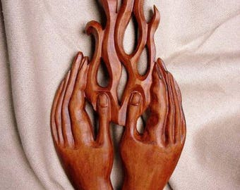 Flame of life, Family hearth,  Wood carving, Carving wall love,  Wedding gift idea,  Flame of love, Flame of life