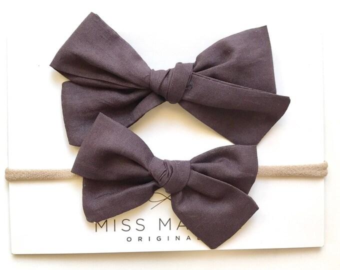 Sloane bow || Grayed black