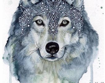 wolf poster print