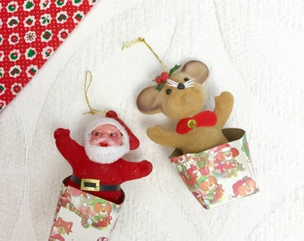 Vintage 1950s Christmas Ornaments - Set of 2