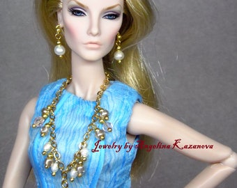 "OOAK Jewelry for dolls 12"" Barbie, Poppy Parker, Fashion royalty, Momoko, BJD"