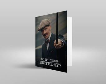Peaky Blinders A5 Birthday card