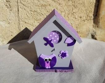 piggy bank birdhouse with OWL (ref TC001)