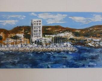 San Diego with acrylic paint