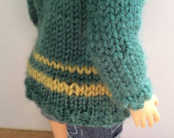 Thick Green Sweater for Cold Autumn Days Lammily Clothes
