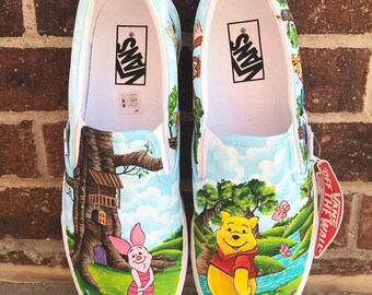 Winnie The Pooh Handpainted Shoes