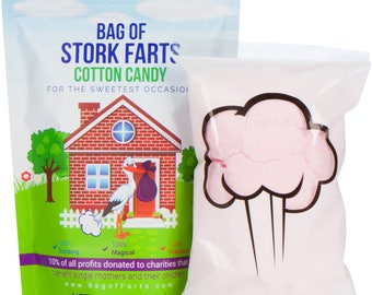 Bag of Stork Farts (Cotton Candy) Funny Unique Baby Shower Gift