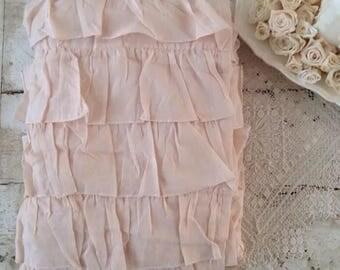 Darling Pink Shabby Chic Ruffled Shower Curtain
