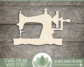 Wood Sewing Machine Laser Cut Shape, Sewing Machine Wood Cut, DIY Craft Supplies