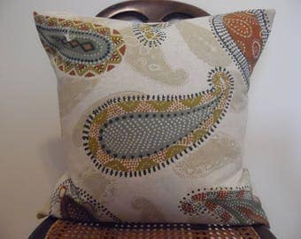 Nice Paisley.Pillow Cover.Toss Pillows.Throw Pillows.Sofa Pillows.Slip Covers