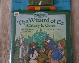 Wizard of Oz Color & Keep Book/Cassette