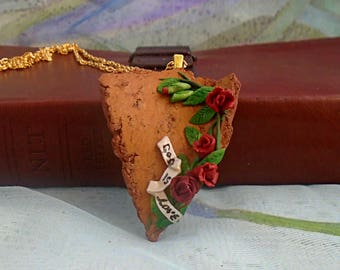 Mother's Day Jewelry | Mother's Day Gift | God is Love Pendant | Rose Jewellery | Rose Pendant | Rose Necklace
