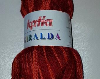 Ball of yarn KATIA GIRALDA 100 g n ° 55 (red/orange)