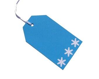 Pendant gift blue gift snowflake advent calendar numbers Christmas Gifts Christmas tags