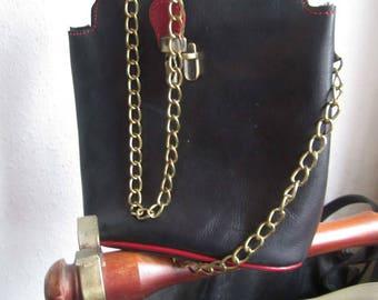 Vintage 80s little leather crossover bag leather shoulder bag
