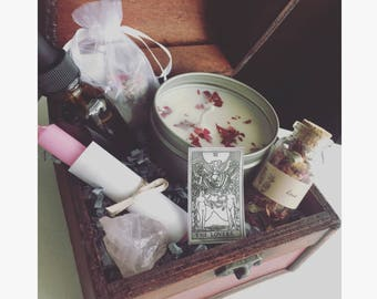Attract love draw love spell box wiccan pagan beginner set