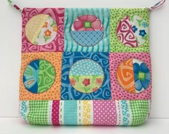 patchwork bag / / beach bag / / leisure bag / / weekend bag / / kawaii //sac holiday bag / / bag / / multicolor bag