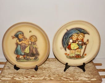Hummel Aniversary Plates,1975 Stormy Weather,1980 Spring Dance,West Germany,hand painted,collectible plates,wall plates,price for one