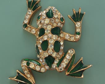 Vintage Figural frog brooch