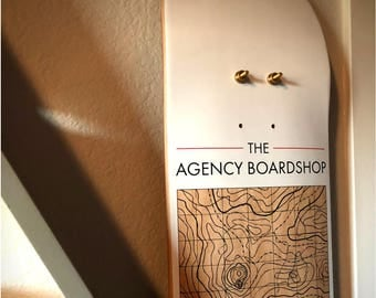 Skateboard - Deck - Wall Mount - Display - Reclaimed - Recycled - Birch