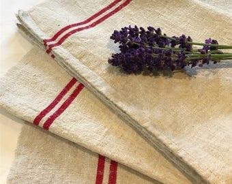 Vintage french torchon / tea towel