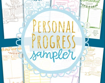 Personal Progress Journal SAMPLE, Young Women LDS Instant Download Printable