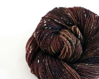 Al Swearengen - Snowfinch - 85/15 superwash BFL/ nylon tweed sock yarn