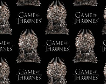 HBO Game of Thrones Iron Throne Cotton Fabric from Springs Creative, TV Show Fabric