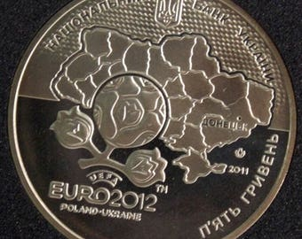 Collectible coins Coin of Ukraine 5 UAH Euro 2012  Donetsk UEFA