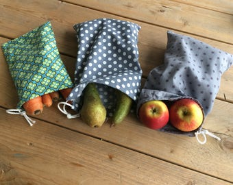 Reusable vegetable Bags-zero waste-produce bags-washable