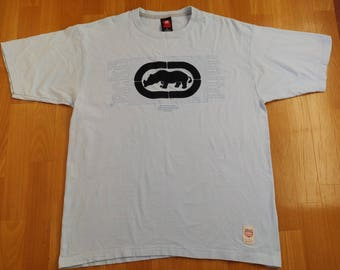ECKO UNLTD jersey, vintage cotton t-shirt, 90s hip hop clothing, 1990s hip-hop, OG, gangsta rap, size L Large