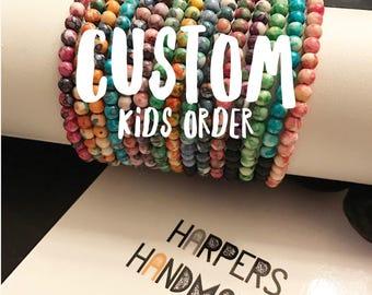 Custom Watercolor Stacks For Kids