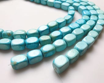 Blue Synthetic Turquoise Gemstone Rectangle Approx. 14x20mm 15.5 Inch per Strand.I-TUR-0119