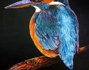 Kingfisher (print of original acrylic painting)