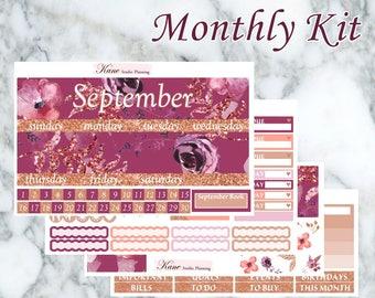 Let Autumn Come // September Monthly Kit - Erin Condren Vertical